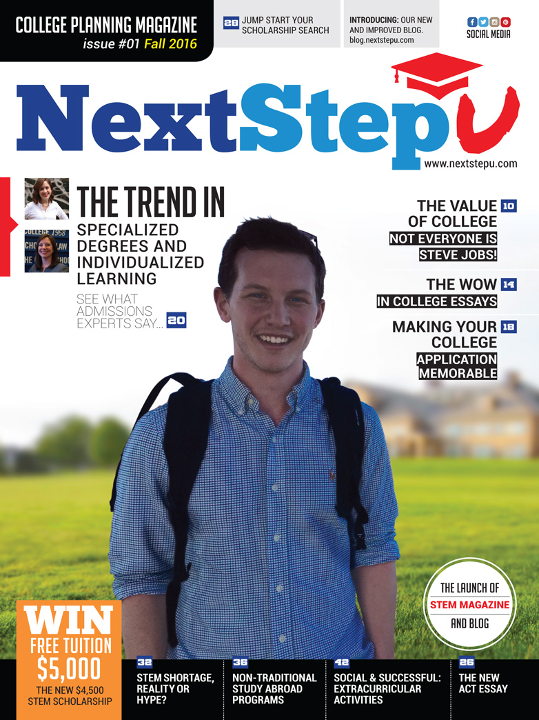 nextstepu college search career planning and scholarships new 2017 stem magazine latest college planning magazine